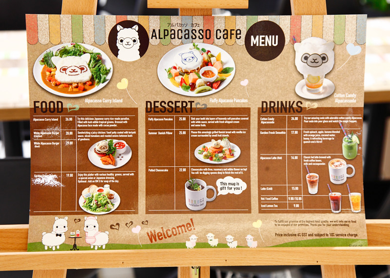 Alpacasso Cafe Menu Mid Valley