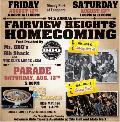 Fairview Hts Homecoming 8-12, 8-13-16