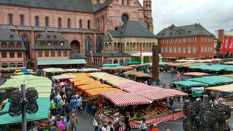 233 Wochenmarkt in Mainz auf dem Domplatz #Rheinhessen
