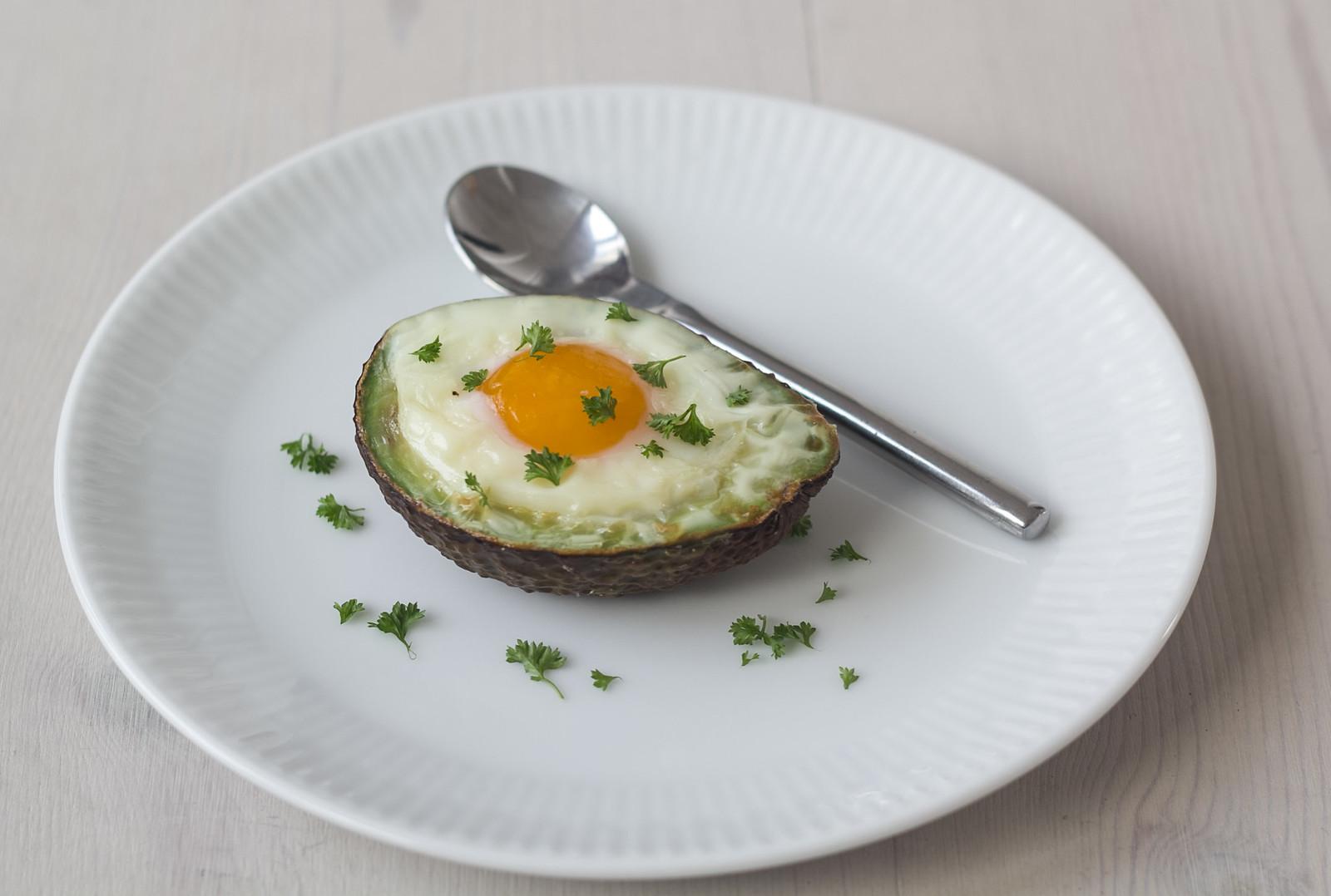 Recipe for Homemade Avocado Baked Egg