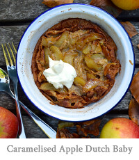 Caramelised Apple & Cinnamon Dutch Baby Pancake