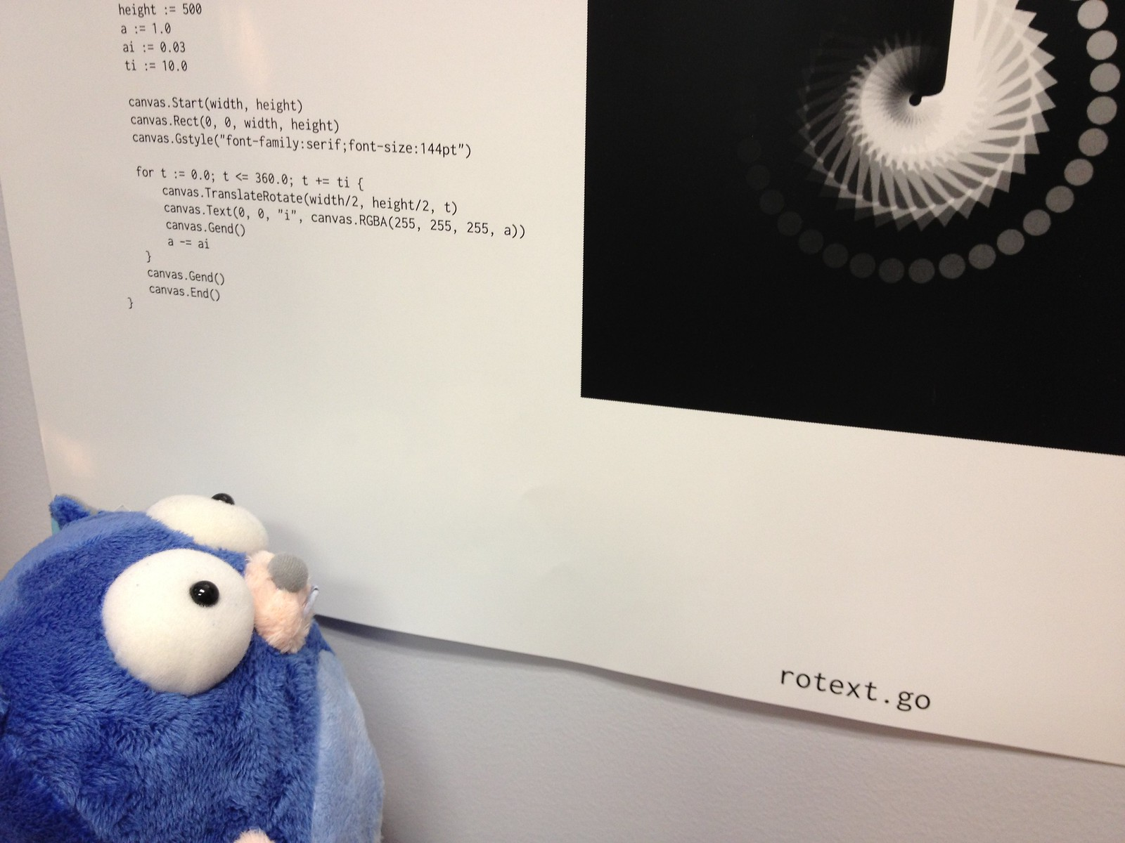 Gopher inspecting Go code
