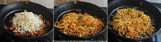 How to make schezwan noodles - Step5