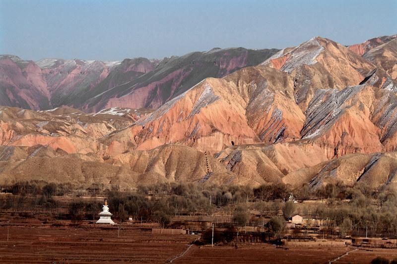 1099 Multi-colored hills-- Qinghai Province , China