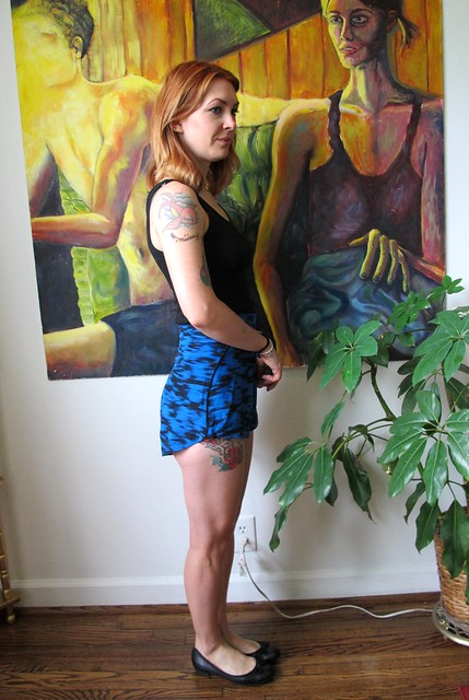 Silk Rite of Spring shorts