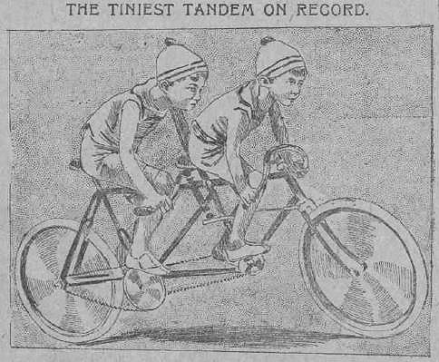 The Journal page on cycling 1896 - detail, child's tandem