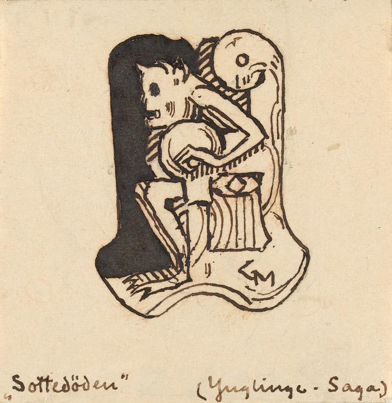 Gerhard Munthe - Sottedøden, 1899