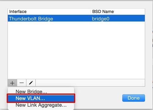 OSXでVLAN作成