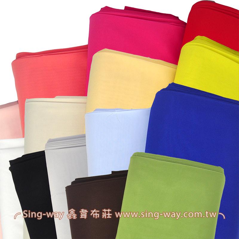緯彈素色雪紡紗(韓國進口) 裝飾服裝布料  I590008