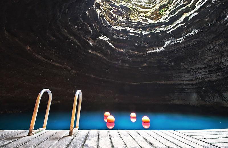 Геотермальный бассейн курорта Homestead Resort, штат Юта, США