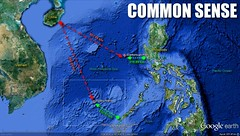 The distance of Hainan to Spratly and Scarborough Shoal compared to the neighboring countries to these islands.