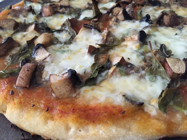 Sardine/Portabella Pizza