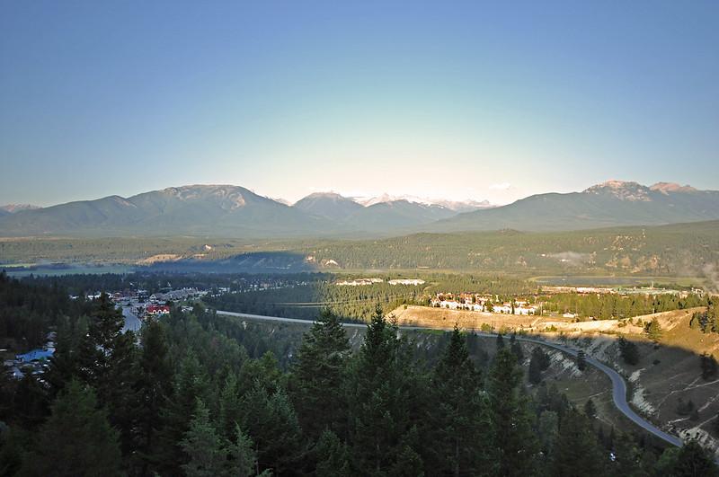 Radium Hot Springs view
