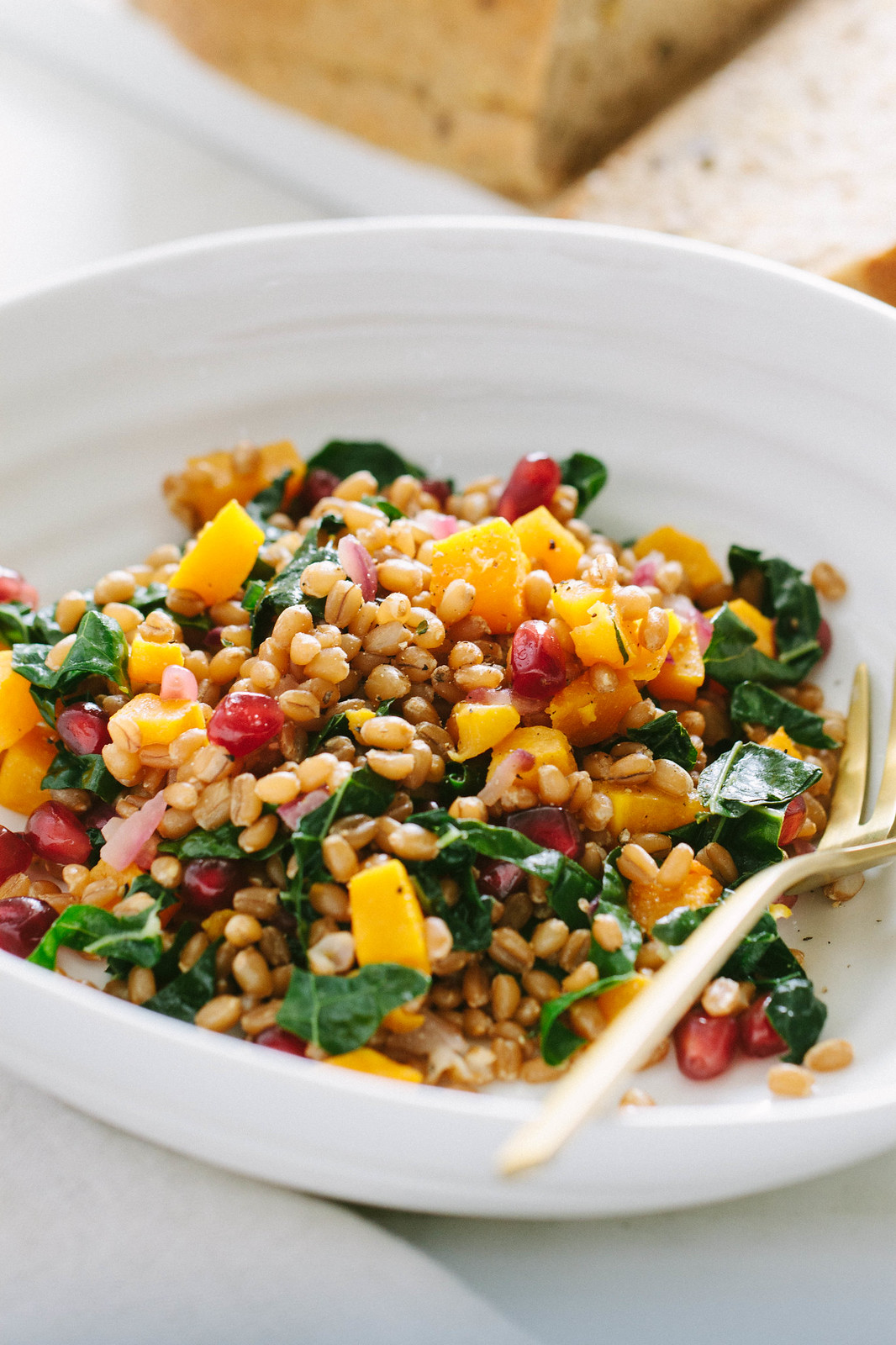 AUTUMN WHEAT BERRY + BUTTERNUT SQUASH SALAD