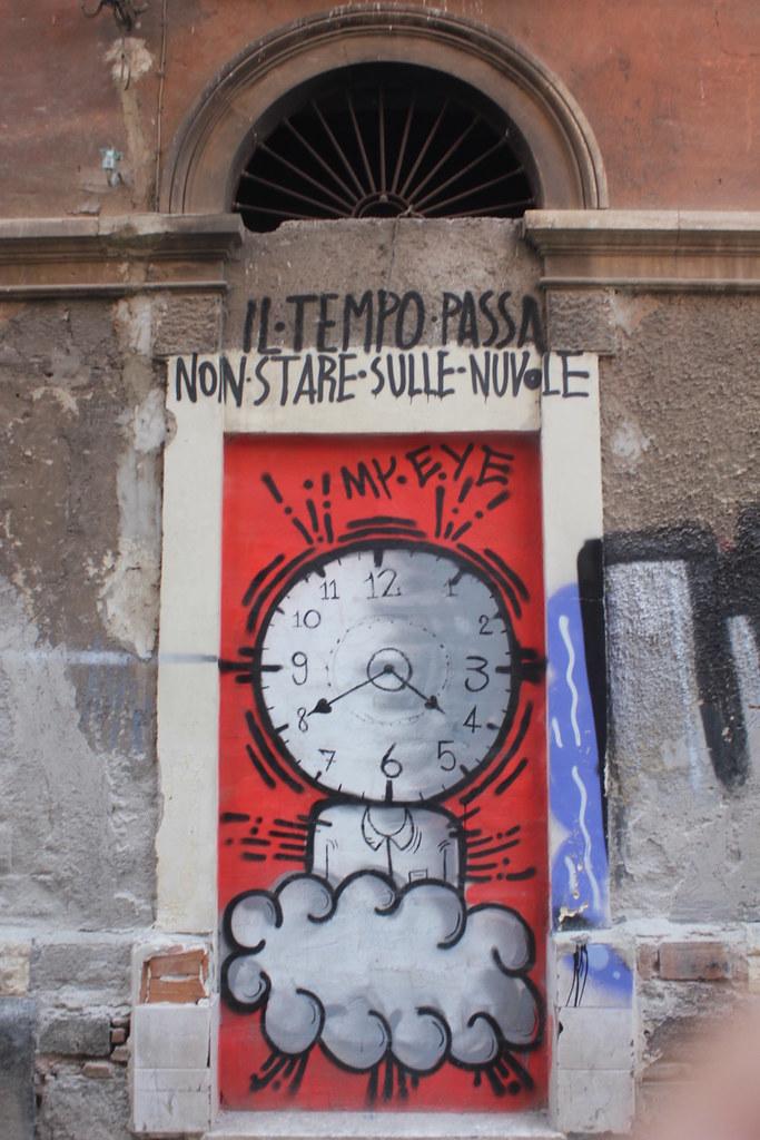 Street art Catania San Berillo district time