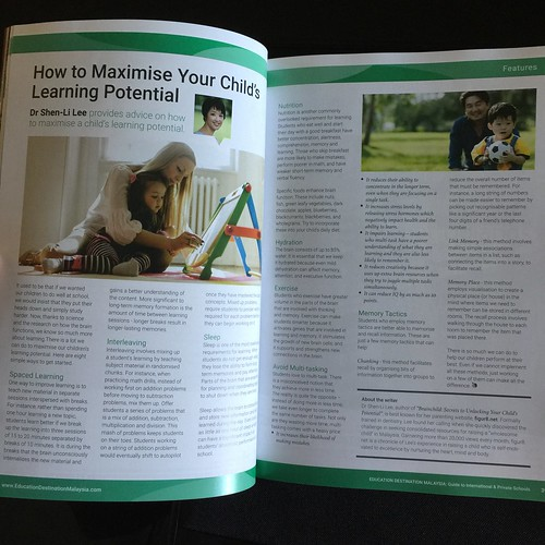 My article on how to maximize your child's learning potential!