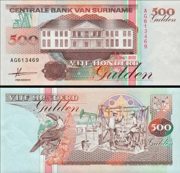 500 Guldenov Surinam 1991, P140
