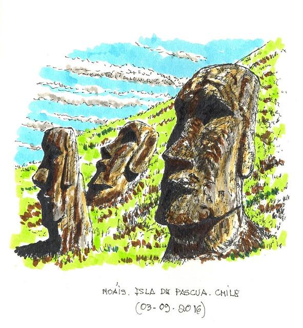 Moáis. Isla de Pascua (Chile)