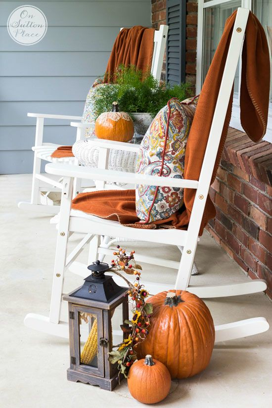 Fall Porch Decor Rocking Chairs