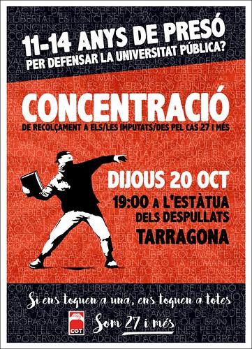 concentració som 27 i més a Tarragona