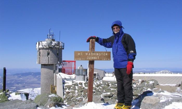 PTD on summit da Wash. in winter