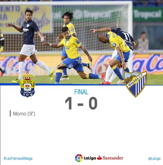 La Liga (Jornada 4): UD Las Palamas 1 - Malaga 0