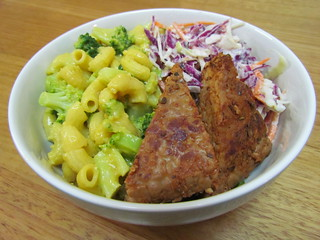 Mac & Trees; Cool Slaw; Buffalo Tempeh