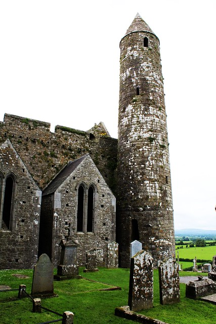12th century, 28 metre high, Round Tower located next to N transept of 13th century Gothic Cathedral.