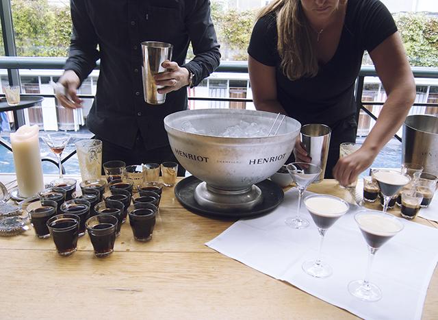 Nespresso espresso martini cocktail bar