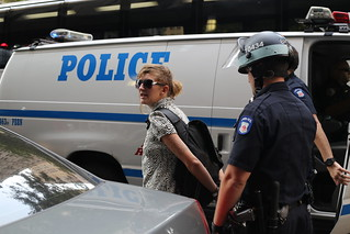 Woman arrested at Occupy Wall Street | by WarmSleepy
