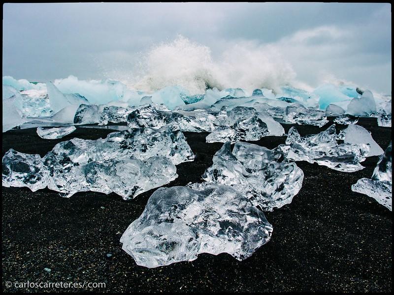 Playa de arena negra - Jökulsárlón