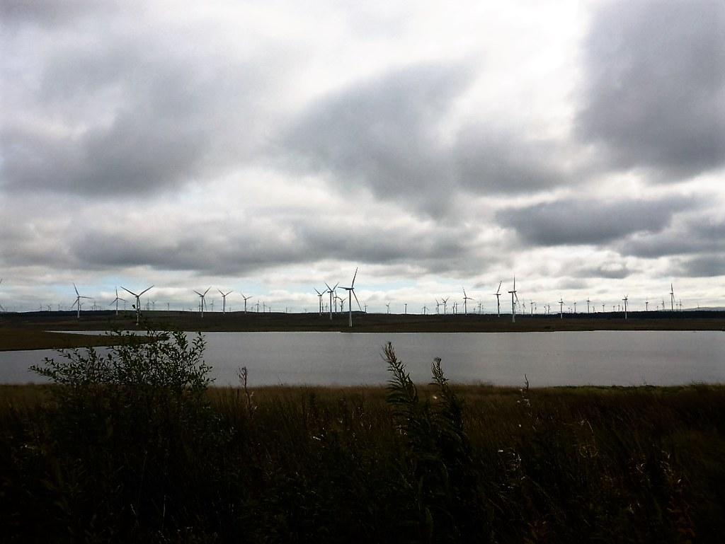 Lochgoin at Whitelee Wind Farm, Scotland.