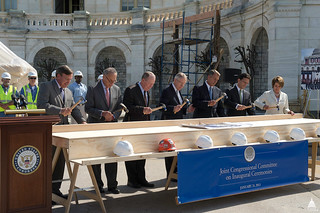First Nail Ceremony kicks off Inauguration Construction | by USCapitol
