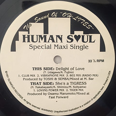 HUMAN SOUL:DELIGHT OF LOVE(LABEL SIDE-A)
