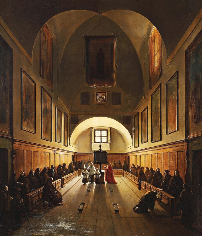 Francois-Marius Granet - Chor der Kapuzinerkirche in Rom (c.1808)