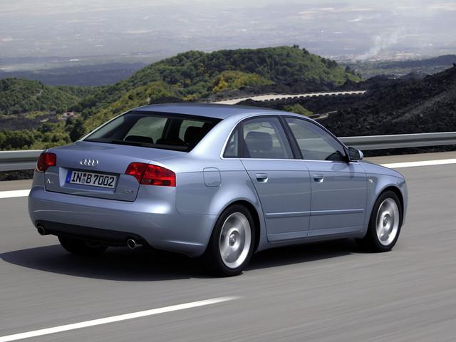 Седан Audi A4 B7, вид сзади. 2004 - 2007 годы
