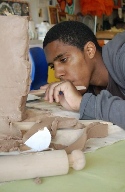 Making a slabware vase