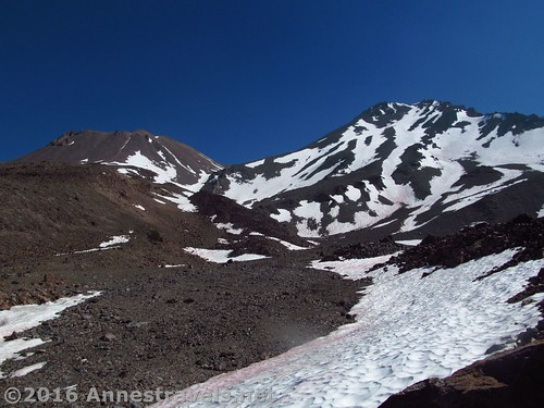 Shastina (L) and Mt. Shasta (R) from Hidden Valley, Shasta-Trinity National Forest, California
