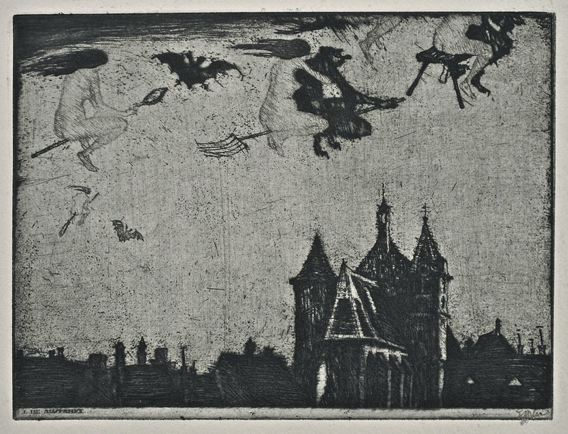 Stefan Eggeler - The Walpurgisnacht Portfolio (six etchings after Gustav Meyrinks) 1922 (6)