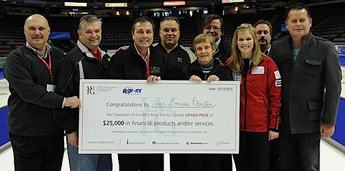 Penticton B.C.Jan12_2013.World Financial Group Continental Cup.WFG Rock the Ice Draw to the Button Contest.CCA/michael burns photo | by seasonofchampions