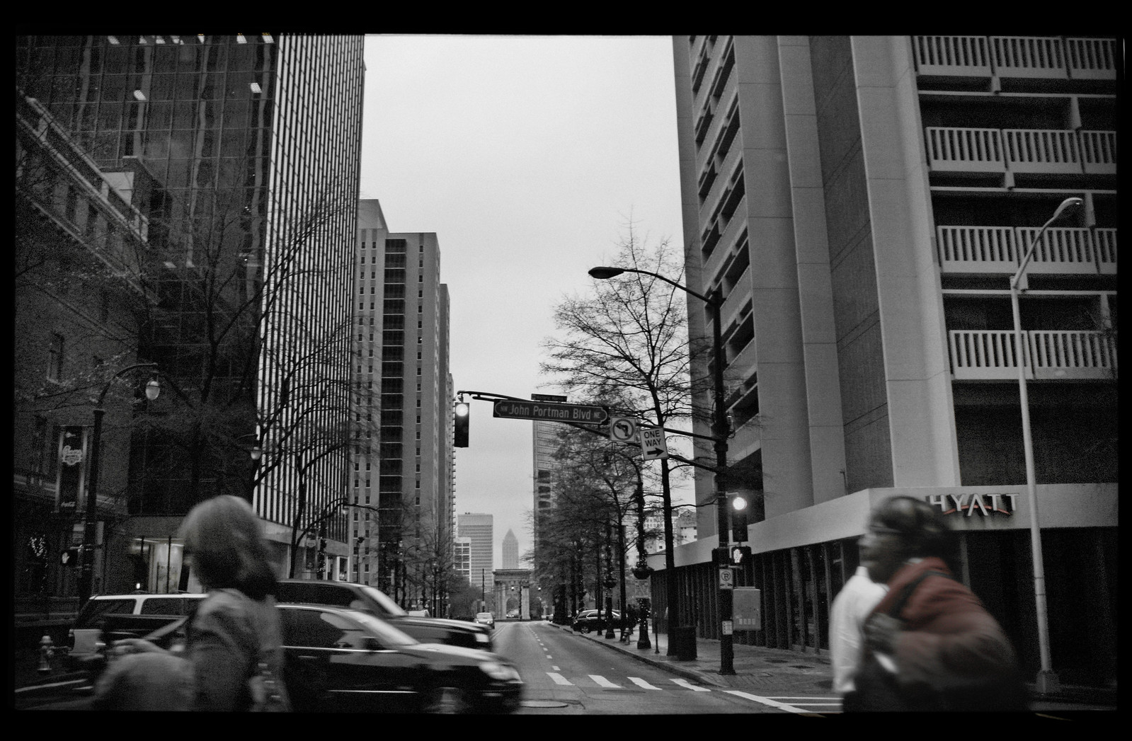 John Portman Blvd, Downtown Atlanta, Dec 2012
