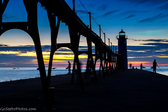 Manistee Light at Blue Hour
