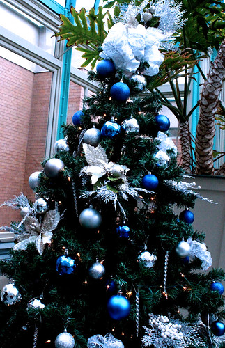 Christmas Tree Blue And Silver Theme : Blue and silver decorated christmas tree quot festival of