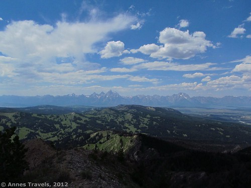 The Tetons from Mt. Leidy, Wyoming