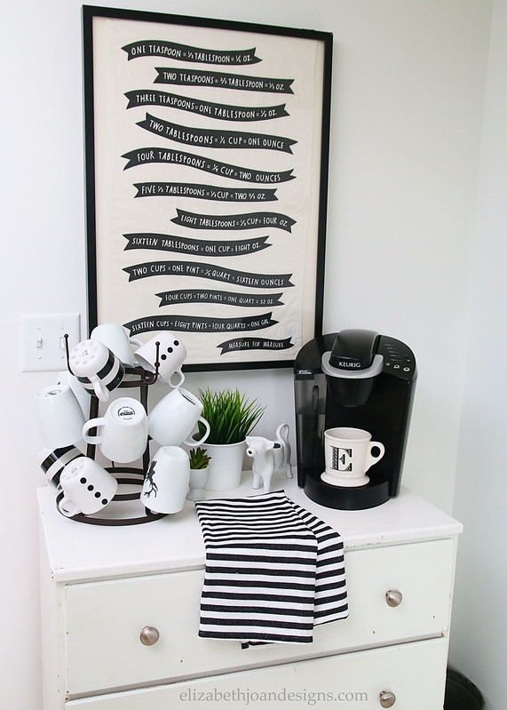 Black White Stripe Coffee Bar