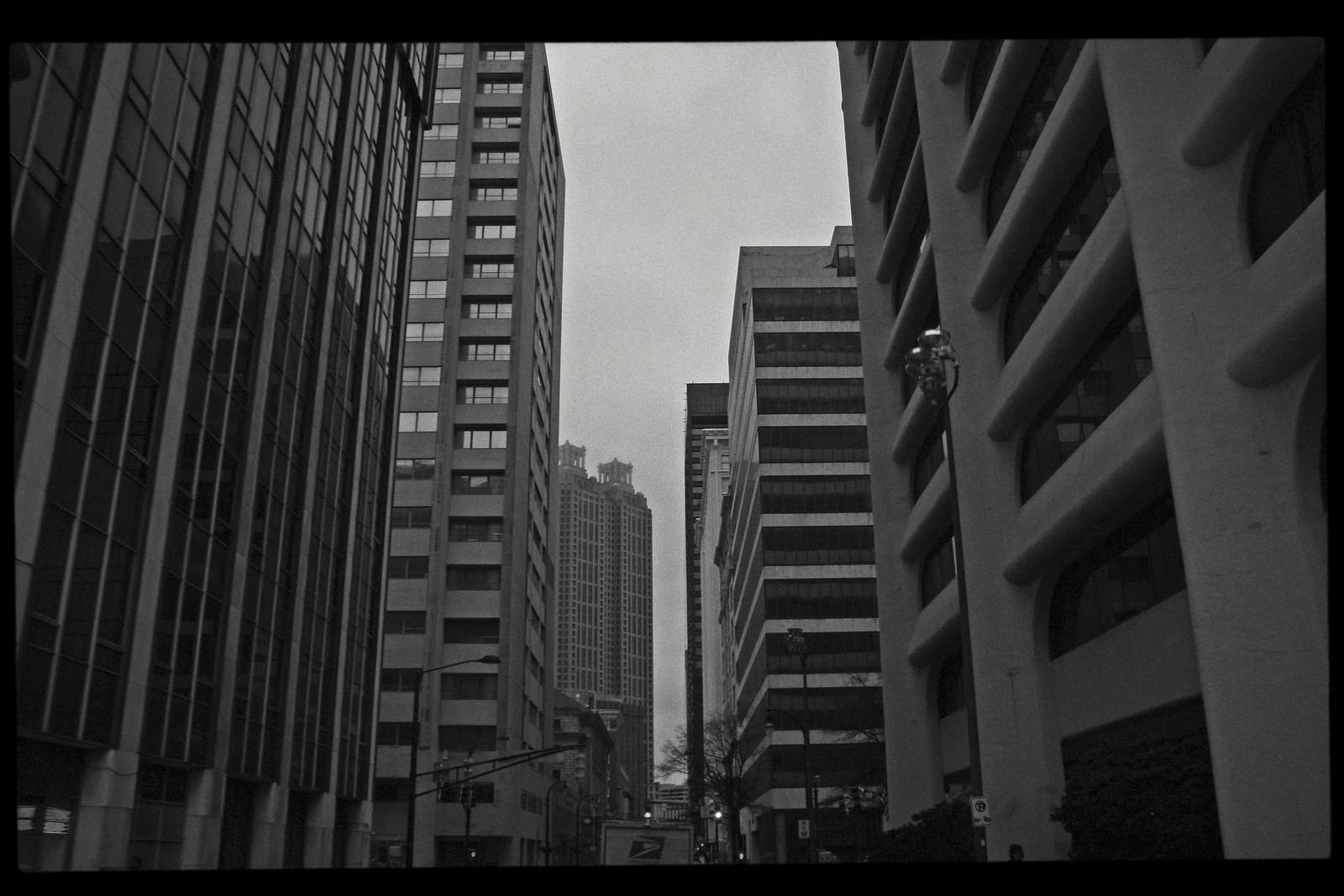 View down Forsyth Street to 191 Peachtree Tower, Atlanta