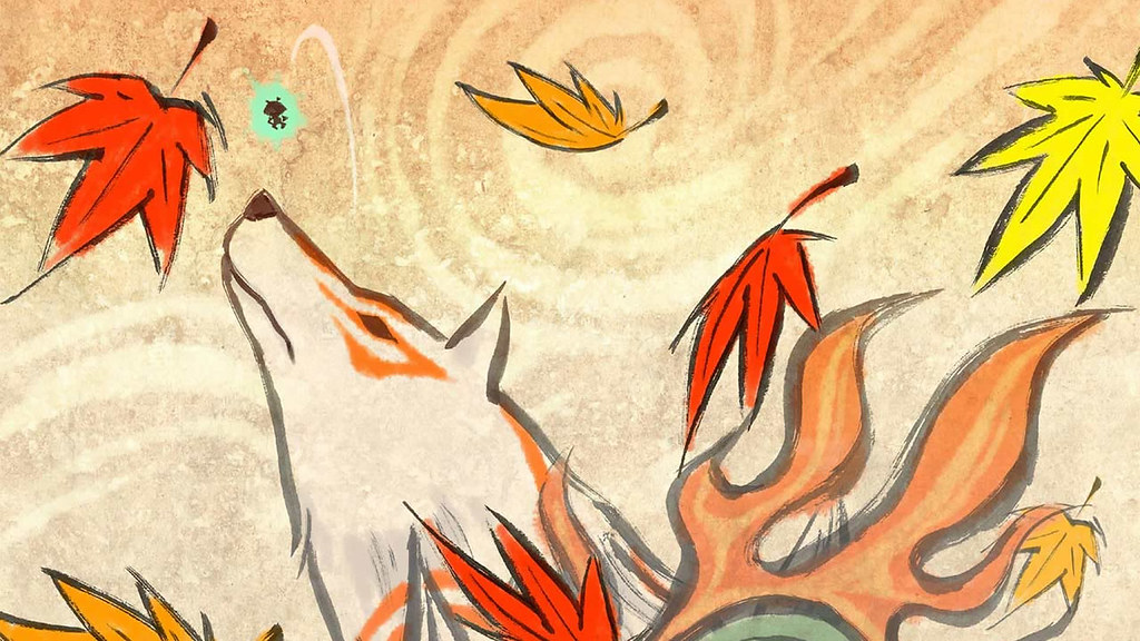 Okami Fall Wallpaper