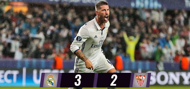 Super Copa de Europa: Real Madrid 3 - Sevilla FC 2