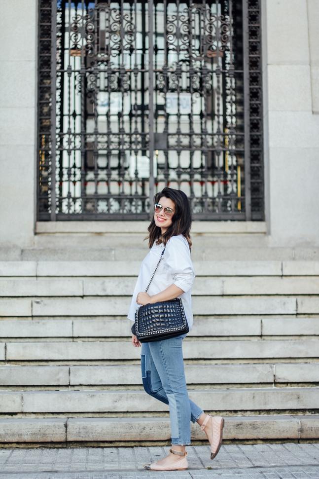 topshop moto jeans patchwork ties&heels ballerinas streetstyle myblueberrynightsblog