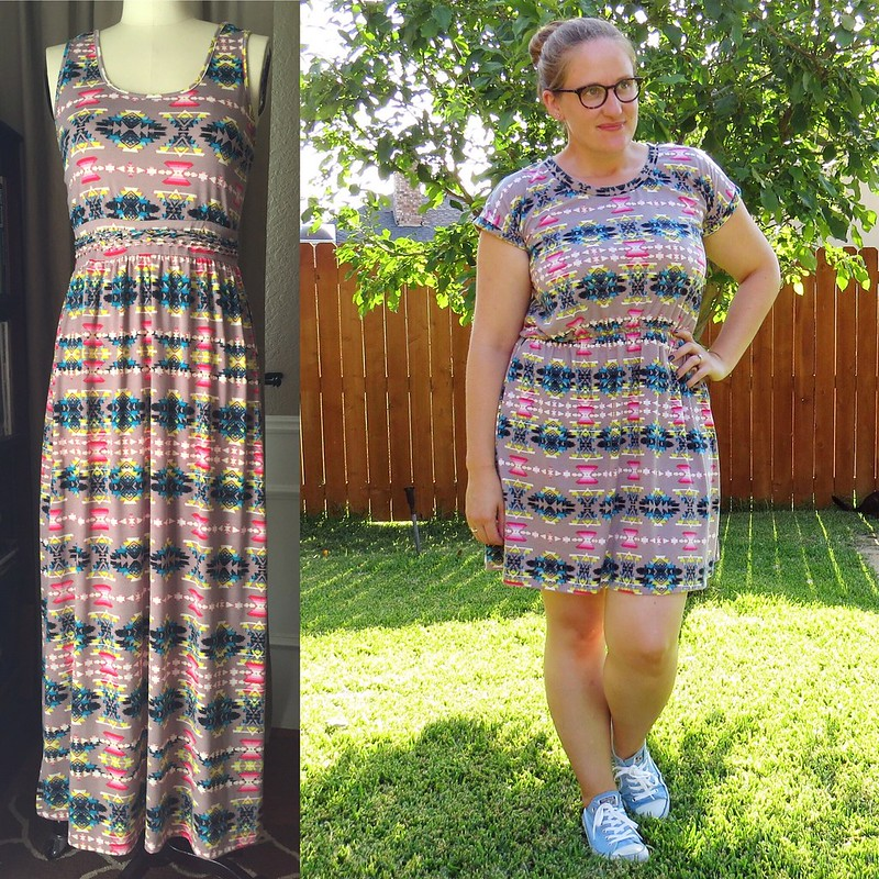 Tribal Dress Refashion - Before & After